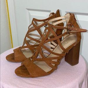 Brown Suede Summer Heels